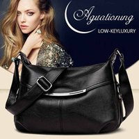 Solid Color Elegant Crossbody Bags Large- capacity Soft Leath...