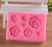 Rose fiori stampo in silicone torta nuziale della muffa del cioccolato della torta che decora gli attrezzi del fondente di Sugarcraft della torta Mould