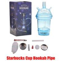 80cm Hortum In Stock Sıcak Starbucks Kupası Nargile Boru Parlayan LED Cam Bong Su Nargile Süt Çay Kupası Su Borusu Akrilik gör dabber