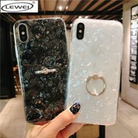 Suave tpu glitter phone case para iphone 7 8 x dream shell padrão casos para iphone xr xs max 7 8 6 6 s plus tampa com suporte do anel