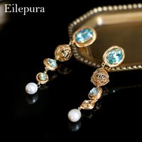 Eilepura Natural Fresh Water Pearl Handmade Colorful Stone D...