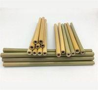 Réutilisable Paille Bambou Pailles Barwar Utile Cuisine Outil Partie Avec Brosse Propre Naturelle 12 pcs Par Costume 8 9nt F1