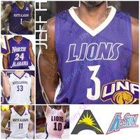 Personalizzato 2020 North Alabama UNA Lions Jersey di pallacanestro NCAA College Christian Agnew Jamari Blackmon Mervin James C.J. Brim Emanuel Littles