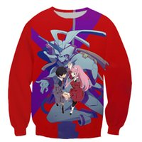 DARLING in the FRANXX men and women pullover sweatshirts pla...