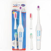 2 yumuşak Yedek Başkanları ile H204 yaratıcı büyük elektrikli diş fırçaları yetişkin diş fırçası toptan kart 3 in 1 yüklü