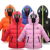 Retail Fashion Kids winter cartoon Down Coat warm thicken ho...