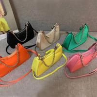 Atacado Bolsa de Hobo para Mulheres Bolsa De Ombro Mini Hobo Cross Body Bag Mulheres Mensageiro Saco Para Lady Hobo Satchel Impermeável Canvas Chain Bolsa