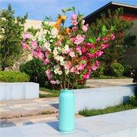 3 adet / grup toptan ev düğün kemer 4 forks dekoratif renkli çiçek Çin begonya ipek çiçek dekoratif simülasyon bitkiler