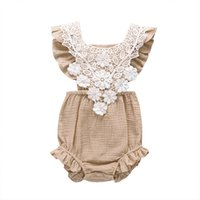 7 Colors Baby girl rompers Lace Ruffles Sleeve Rompers Short...