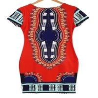 Женщины Традиционный Африканский Принт Дашики Платье С Коротким Рукавом Вечернее Платье Новый
