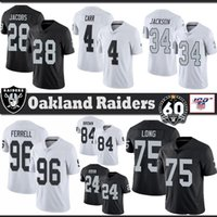 28 Josh Jacobs Oakland Football Jersey Raider Bo Jackson Derek Carr Clelin Ferrell Johnathan Abram Antonio Brown Howie long Stitched jerseys