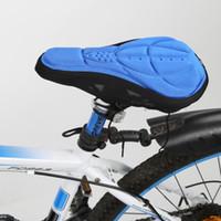Sedile Mountain bici della bicicletta 3D del silicone del gel dell'ammortizzatore sottosella Soft Cover 2018 Nuovo