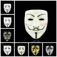 Vendetta V Word Mask Creative Movie Theme Cosplay Costume Halloween Masquerade Masks Party Decoration 8 styles LXL278-A