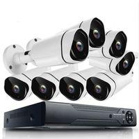 Système de caméra de vidéosurveillance à la maison 8 canaux HD 8CH 8CH080P Kit de la caméra de sécurité étanche à l'eau avec DVR