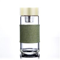 Glass Water Bottle With Tea Infuser Strainer Heat Resistant ...