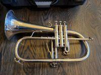 جودة عالية bach flugelhorn bb البوق 183 الفضة الشعبية الموسيقية الآلات المهنية مع حالة شحن مجاني