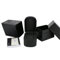 جلدية سوداء AR الساعات الفاخرة صناديق نوعية جيدة الشهيرة ماركة أزياء ووتش مربع الأصلي مع كتاب cetifacate + بطاقة