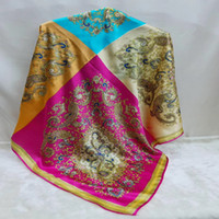 Beautiful large square 100% pure silk thick large square Ban...