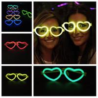 Chaud mignon Apple lunettes fluorescentes Christmas Light Sticks concert parti lueur accessoires fluorescent jouets pour enfants Party Favor T2G5032