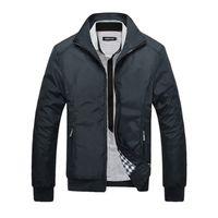 Vestes pour hommes 2019 hommes nouvelle veste décontractée haute qualité printemps régulière veste mince manteau pour les hommes en gros