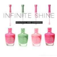 Les plus populaires INFINI SHINE2 Authentic Original Couleur Non toxique polonaise Lasting semaine Vernis à ongles polonais / Laque15ml / DHL 0.5fl.oz GRATUIT