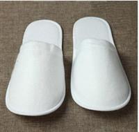 Atacado Travel Hotel SPA Anti-derrapante Disposable Chinelos Home Guest Shoes Multi-cores respirável macio Disposable Chinelos