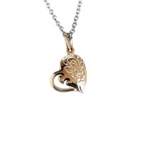 Necklace ARPSS084- Rose gold New 316L casting heart shape pen...
