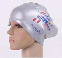 قبعات النساء السباحة سيليكون سوبر كبيرة طويل شعر البنات ماء كبيرة الحجم السباحة قبعة لكأس سيدة الغوص معدات الأذن حماية
