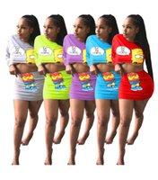 Frauen Cartoon zweiteilige Kleider reizvolle lange Hülse Erntespitze bodycon Mini-Röcke Art und Weise Clubwear Sommerkleidung beiläufige frei 3180 Outfits