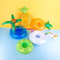 140pcs design Porte-gobelet gonflable Unicorn ananas champignon Cocotier dessous de verres Summer Party fournisseur piscine Toy