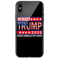 USA President Donna Trump 2020 Vote Phone Soft TPU Glass Case for Iphone 11pro max XR 6 XS 7 8 plus Samsung S10 NOTE9 NOTE10