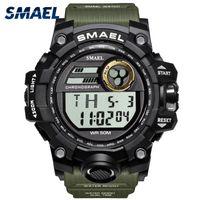 Montres Hommes Sport militaire Smael S Shock Relojes Hombre LED Casual Horloge numérique étanche 1545D Sport Montres-bracelets Montre alarme