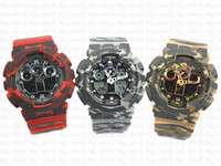 camo Popular brand men' s sports digital wristwatch, Spo...