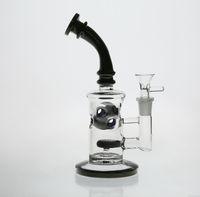 Black Glass Honeycomb Bong Jet Perc Wax Dab Rig TORO Bohrinseln Pfeife Fab Ei Bubblers Wasserrohr mit Quarz-Banger