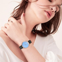 Ladies Watch Pu Leather Fashion Blue Sky And White Cloud Alloy Watch Business Diamond High-end Quartz Women Watches