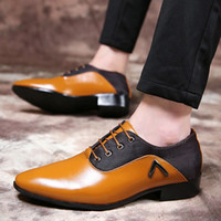 Hot Sale- men elegant mens office shoes leather coiffeur brow...