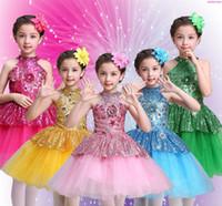 Ballet ballet del vestido del tutú de las muchachas Gimnasia Leotardo Ropa de niños de la ropa del traje de la bailarina Descuento Tutús desgaste de la etapa