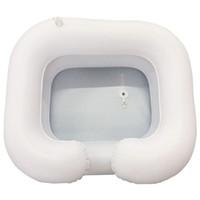 Shampooing Plateau dans le lit Conditionneur soins aux personnes âgées handicapés handicapés PVC portable gonflable lavage des cheveux bassin avec vidange Tube