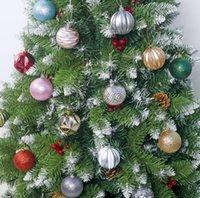 Árvore de Natal da bola do Natal 6color ornamento decorações coloridas Pingente Electrogalvanização Balls presente para a casa decorações do partido novo GGA2853