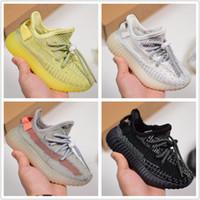 Adidas 350 V2 kids Chaussures Enfants Çocuk Tasarımcı Sneakers Kanye West Doğa Sporları Ayakkabı Beluga 2.0 Yeşil Kil Siyah Statik Refective dökün