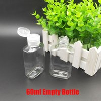 Hot 60ml Empty Hand Sanitizer Gel Bottle Hand Flip Cover PET...