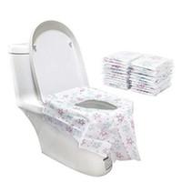 Cubierta de asiento disponible para el asiento disponible portátil No tejido Papel estelar Impreso a prueba de agua Potty Protector Ajuste Niño Adulto Aseos Públicos 12 5CR E19 E19