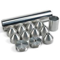 """2 """"x 10""""溶剤トラップNapa 4003 Wix 24003燃料フィルター1/2-28,5 / 8-24 6061-T6アルミニウム"""