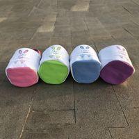Cestas de Páscoa DIY Coelho Bolsa de Páscoa Canvas Bucket Pattern Bags Pé Criança Dots Imprimir Candy presentes ovo Retalhos cor crianças Totes A122105