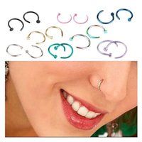 Fashion Rings Body Piercing Nose Ring Steel Hoop Earring Party Non Jewelry Stainless Fake Studs Favor Umcmu