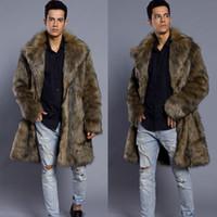 2020 Erkekler Kürk Kış Faux Kürk Dış Giyim On Bir Yüzler Coat Erkek Punk Parka Ceketler Uzun Deri Gerçekliği Giyim palto
