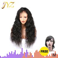 1 x Send 1 JYZ 13x4 Spitze-Front-Menschenhaar-Perücken lose tiefer Wellen-Spitze-Perücken Mittelverhältnis brasilianische Remy Haar-Perücke für schwarze Frauen