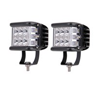 2pieces 4inch أدى ضوء القيادة ضوء الجانب مطلق النار 60W LED ضوء العمل مكعبات مكعبات ستروب وظيفة ل الطرق الوعرة سيارات الدفع الرباعي شاحنات 4x4