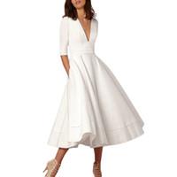 新しいファッションVestidos de Verano 2017 Para Mujerカジュアルレディースロングボールガウンプロムレディーススイングドレス4色の高品質