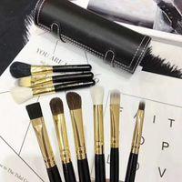Marka 9 ADET Makyaj Fırçalar Set Kiti Seyahat Güzellik Profesyonel Ahşap Saplı Vakfı Dudaklar Kozmetik Makyaj Fırça